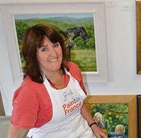 Gill Erskine-Hill in her studio